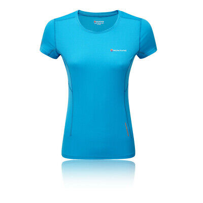 Montane Mujer Claw Camiseta T-shirt Top Azul Deporte Exterior Transpirable