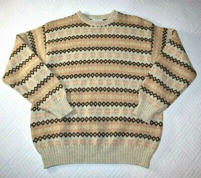 cb57e13a786 United Colors of Benetton Sweater Men s Small Shetland Wool Fair Isle  Vintage