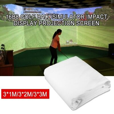 Z16B8 Golf Ball Simulator Impact Display Projection Zebra Screen 1m 2m 3m White