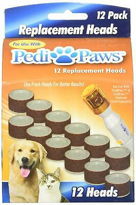 Pedi Paws Replacement Heads Pet Nail Care for Dog or Cat - 12 Ct - Pack of 1