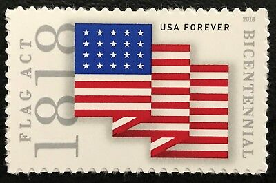 2018 Scott #5284 - Forever - 1818 FLAG ACT BICENTENNIAL - Single Mint NH