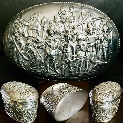 "Fantastic Rare Antique Ornate Victorian 5""/12cm Harrison Brothers Silver Trinket"