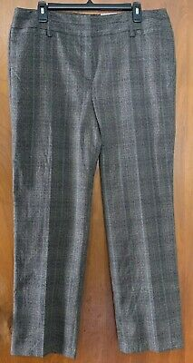 105916bfa2 Dress Barn Women's Gray Plaid Dress Slacks Pants Career Work Size 14 New