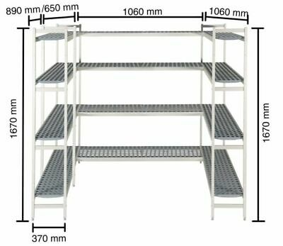 Shelf for Cold Rooms, 1060+890+650+1060mm