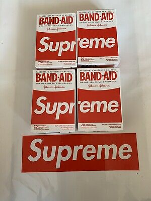 Supreme Band Aid RED *IN HAND* SS19 Wk2 Plasters