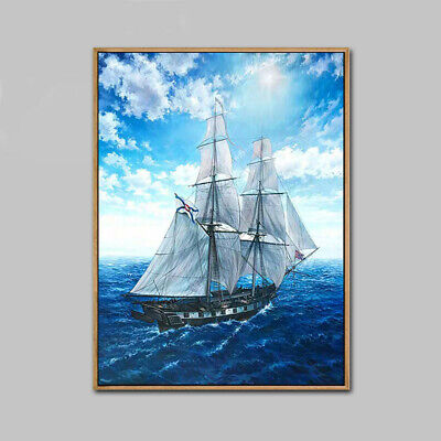 HH075 Home decor 100% Hand-painted oil painting Set sail Unframed 60x90cm
