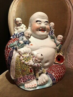 Bouddha Porcelaine Chine Ancien