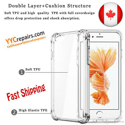 Samsung iPhone Shock Proof Crystal Clear Soft Silicone TPU Gel Cover Slim Case