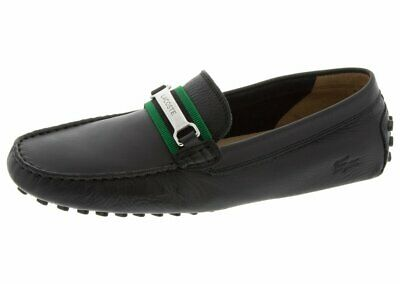 41836aa4769cc Lacoste Ansted Black Green Slip On Leather Men s Size Leather New In Box