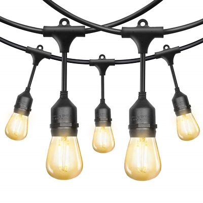 52Ft LED Outdoor String Lights, EAGWELL Commercial String Lights with 18 LED UL