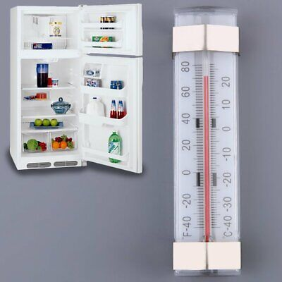 Microwave Thermometers Silver Metaltex Fridge Freezer Thermometer of Plastic