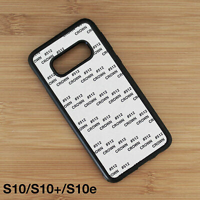 For Samsung Galaxy S10/ S10 Plus/ S10e Rubber Sublimation Cases w/ Blank Inserts
