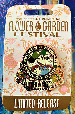 Disney EPCOT Flower & Garden Festival 2019 MICKEY'S GARDEN SHED PIN NEW  LR