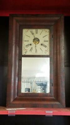Antique 1860's New Haven 30 Hour Weight Driven Wall Clock w/ Key (SS1046511)
