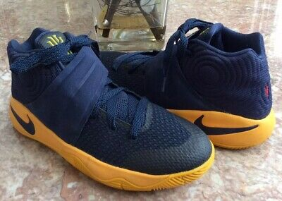 8bb266c9298d Nike Kyrie 2 GS Mid Navy University Gold Basketball Shoes Sz 7Y  826673-447