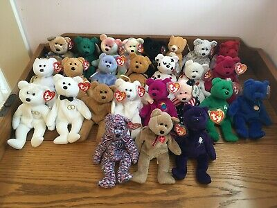 c4217c15ef3 Lot of 26 TY Beanie Babies Bears All Retired Original Tag All Different