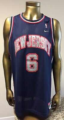 02018856a87 NBA New Jersey Nets #6 Kenyon Martin Sewn Nike Team XL Swingman Basketball  Tank