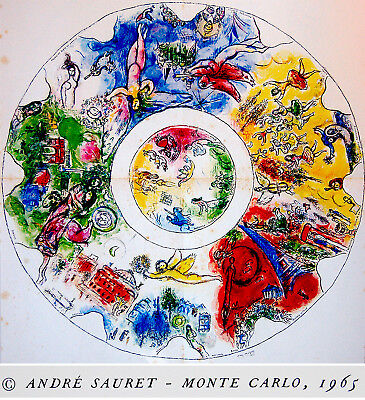 Original CHAGALL LITHOGRAPH + 6 MOURLOT Sorlier LITHOGRAPHS Art BOOK Paris OPERA