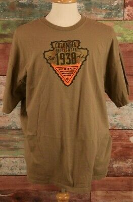c8b8beda8c1 Columbia PHG Hunting Gear T-shirt Mens Brown Tan Graphic Size XXL 100%  Cotton