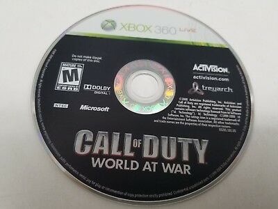 Call of Duty: World at War (Microsoft Xbox 360, 2008)***CD ONLY!***Fast Shipping