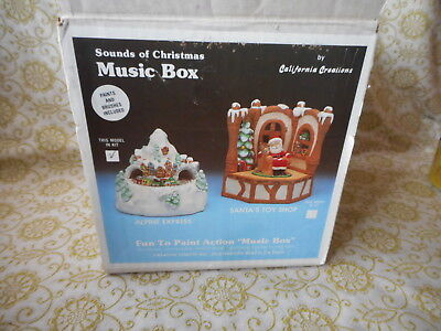 Vintage California Creations Ready To Paint ALPINE EXPRESS Music Box NIB