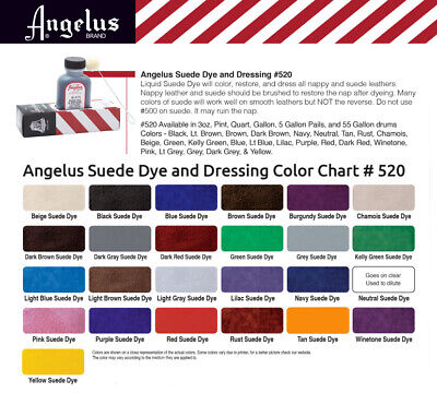 Angelus Suede Dye 3oz Dauber 4 Applicator ALL COLORS Shoes Boots Bags Fast Ship