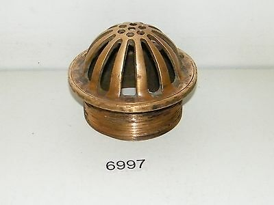 """Vintage Solid Brass Domed Industrial Drain Cover 4"""" Roof Recessed Floor ??"""