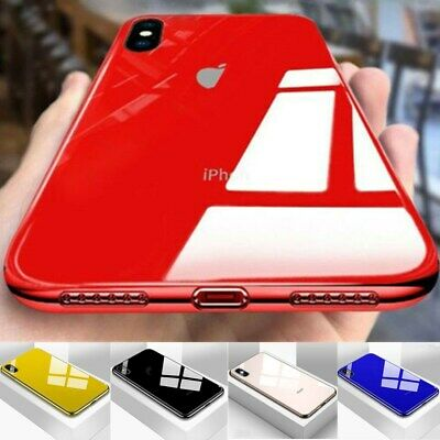 Tempered Glass Phone Case For iPhone11 Pro Max XS XR Cover Luxury TPU Hard Cases