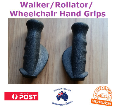 Pair of Walker Rollator Wheelchair Hand Grips Replacement Set Right Left NEW