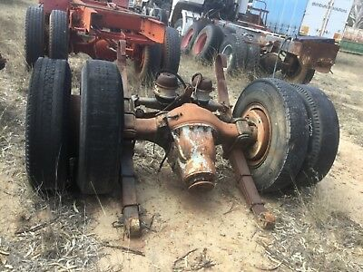 Volvo Truck Single Drive Back End Complete With Spring Packs  Full Air Brakes