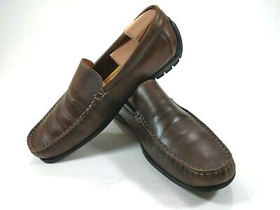 75ce4187787e Ecco Driving Moc Toe Loafer Slip On Brown Leather Men s Shoe Size 44 10    10.5