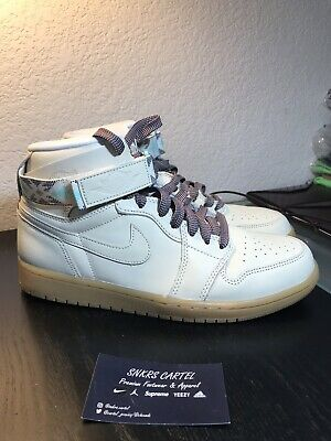686d03bb5ed Nike Air Jordan 1 Retro Hi Strap N7 Light Cream Size 9.5 US AR4410-207