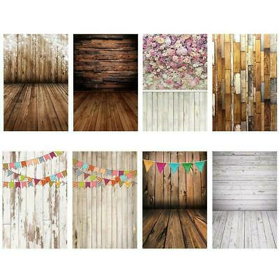 Retro Vinyl Wood Plank Wall Floor Photography Backdrop Studio Photo Background