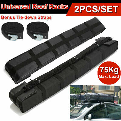 2x Universal Kayaks Surfboard Car Roof Rack Canoe Soft Pads Luggage Carrier Bar