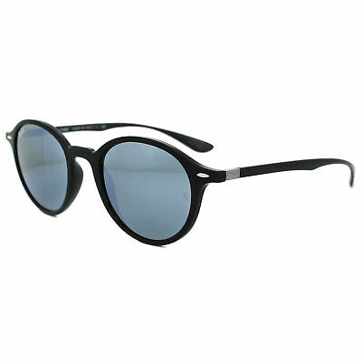 9e7ca016198 Ray Ban Sunglasses Round Liteforce RB4237 601 30 50MM Black Silver Mirror