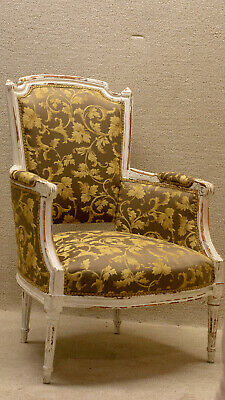 Pair of French Louis  Living Room Chairs Newly Upholstered & Restored 19th c