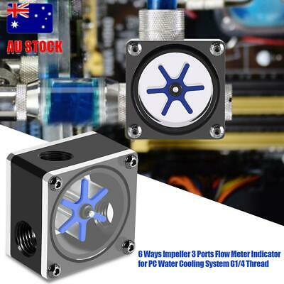 3Way Water Cooling Flow Meter Indicator For PC Water Cooling System Thread Hot