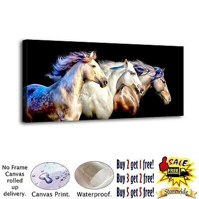 Three white horses HD Canvas prints Painting Home Decor Picture Room Wall art