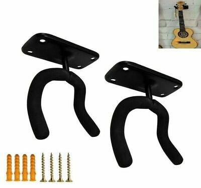 2 Pack Guitar Bass Banjo Violin Mandolin Hanger Hook Holder Wall Mount Keep
