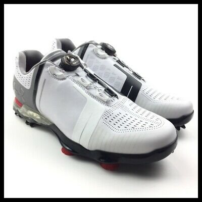 10f35c5faf66 Under Armour UA Spieth One BOA Mens Golf Shoes Size 10 New 1292754-100 White