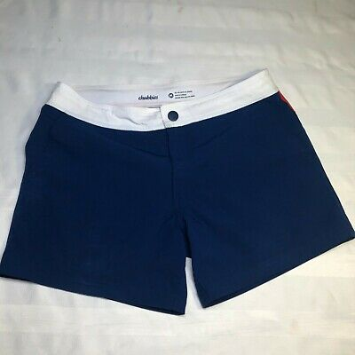aa36431bf1 Chubbies mens swim shorts blue white red size medium polyester spandex