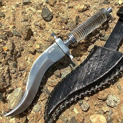 """Defender Xtreme 12.5"""" Crystal Handle Stainless Steel Hunting Knife Curved With L"""