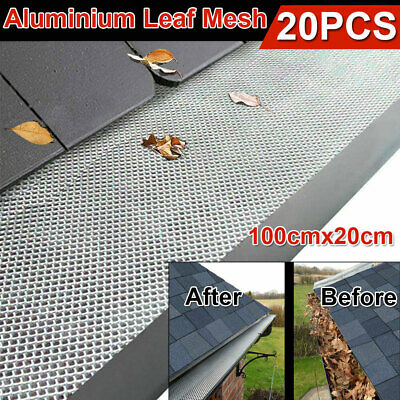 20M Gutter Guard Aluminium Leaf Mesh Deluxe Home Garden DIY Silver Roof Protect