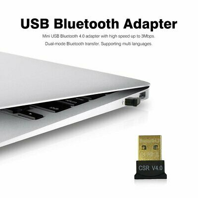 Mini USB Bluetooth 4.0 Adapter Dual Mode CSR Wireless Dongle EDR for PC Lap MK