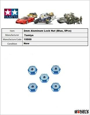 Mini 4wd 2mm ALUMINUM LOCK NUT DARK BLUE 5pcs. Dadi autobloccanti Tamiya 95459