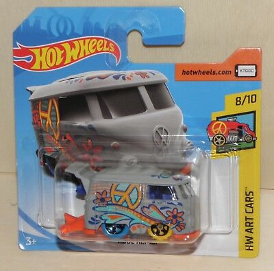 Hot Wheels Volkswagen KOOL KOMBI VW-Bus HW Art Cars 2018  8/10 FJW77 353/365 NEU
