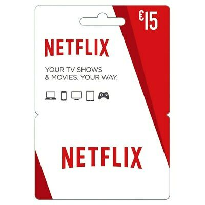 Netflix gift card 15 dollars usd