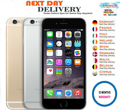 New Apple iPhone 6 16GB Smartphone Factory Unlocked Sealed Box Various Colour UK