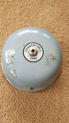 "Vintage orginal Chloride Grey Gent of Leicester Dome Bell  6"" fire, school bell."