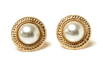 9ct Gold 5mm Cultured Pearl Stud earrings Gift Boxed Made in UK Birthday Gift